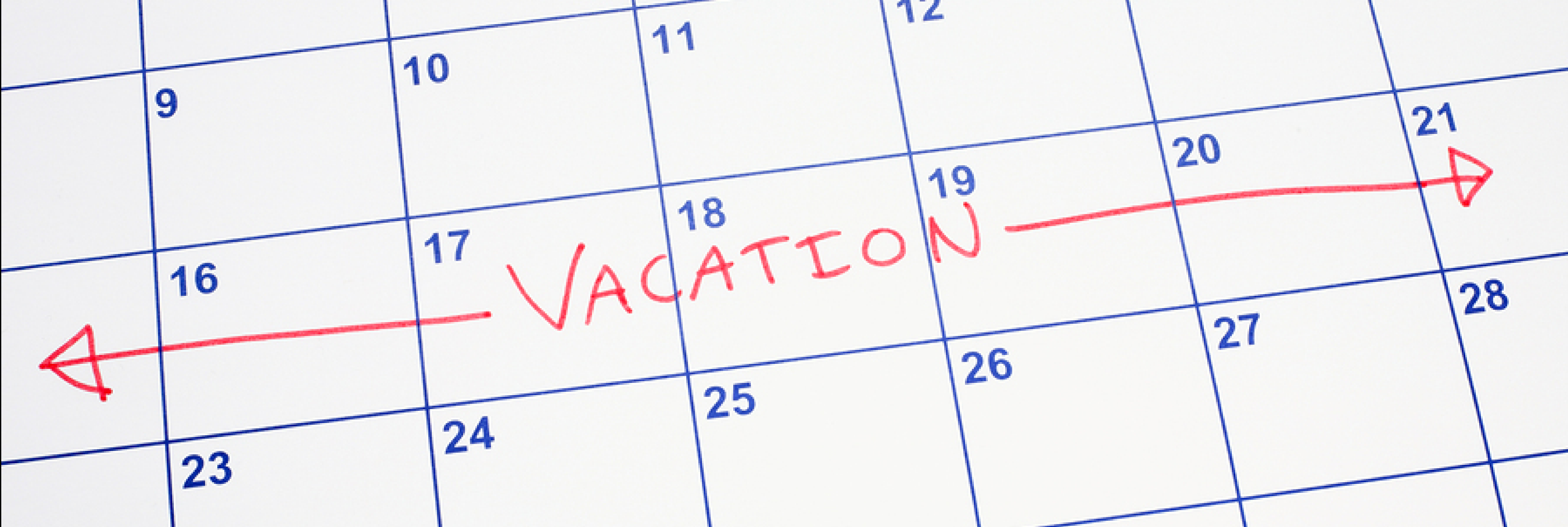 Plan Ahead for Summer Vacation Time