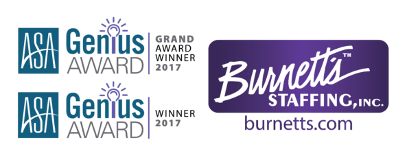 Burnett's Staffing Wins the 2017 ASA Genius Grand Award
